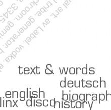 text & words