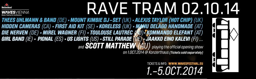 Waves Festival Vienna – Rave Tram  – 2 Oktober 2014 – 20:00 – 04:00